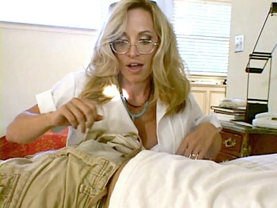 Busty Blonde Nurse fucked into ass
